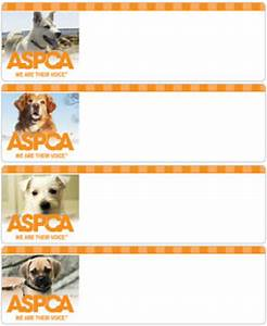 aspca dogs address labels promise checks With aspca address labels