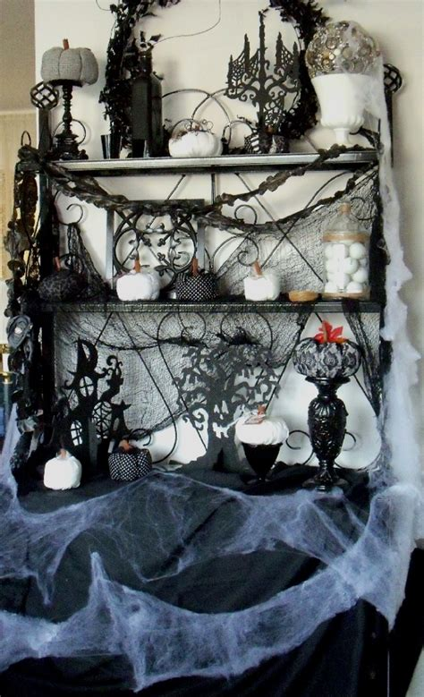 Ideas  Stylish Black White Halloween Decorations