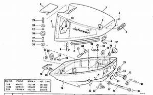 Johnson Motor Cover Parts For 1976 9 9hp 10r76r Outboard Motor