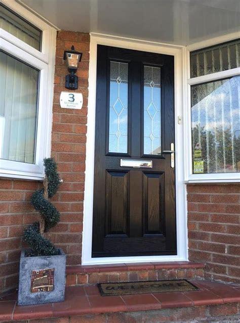 black double pained window front door window company