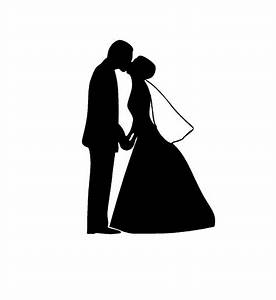 Dessin Couple Mariage Noir Et Blanc : marriage silhouette clipart ~ Melissatoandfro.com Idées de Décoration