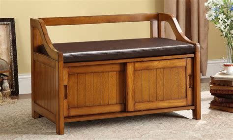 wood storage bench wooden storage bench for shoes