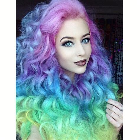 17 Best Ideas About Rainbow Dyed Hair On Pinterest Crazy