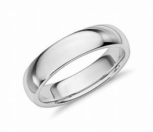 Comfort Fit Wedding Ring In 14k White Gold 5mm Blue Nile
