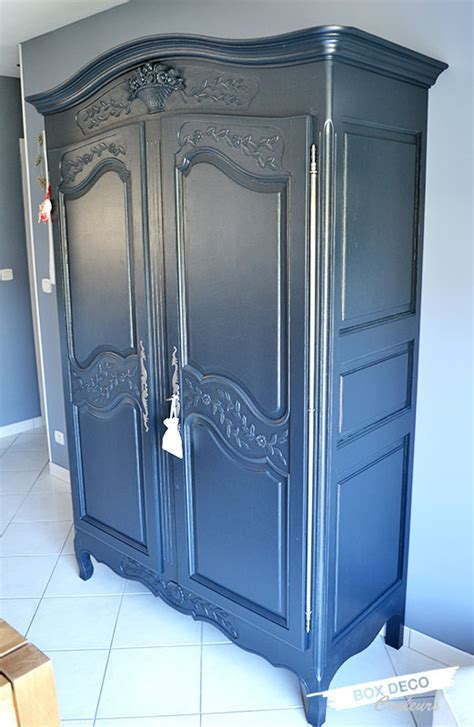 chambre bleu et rénover une armoire normande box déco couleurs