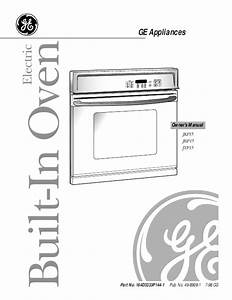 Ge Oven Jkp15 User U0026 39 S Guide