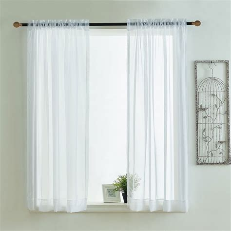 sheer lace curtain kitchen curtains valances rod pocket decorative