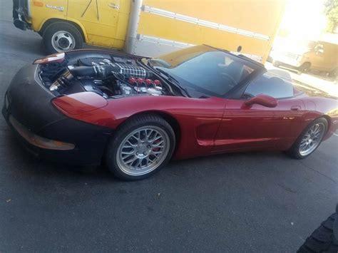corvette convertible   supercharged    hood