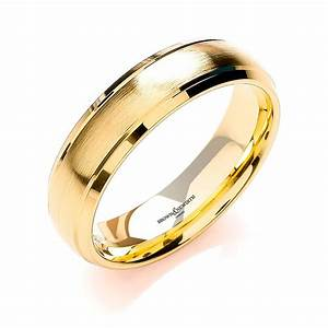 brown and newirth mens 18ct yellow gold wedding ring With mens yellow gold wedding rings