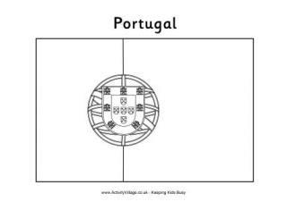 portugal flag printables portuguese flag colouring