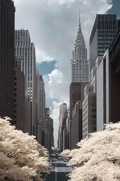 York Infrared Building Manhattan Street Nyc Chrysler