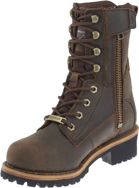 best motorcycle boots for women harley davidson women 39 s tyson 7 inch brown logger