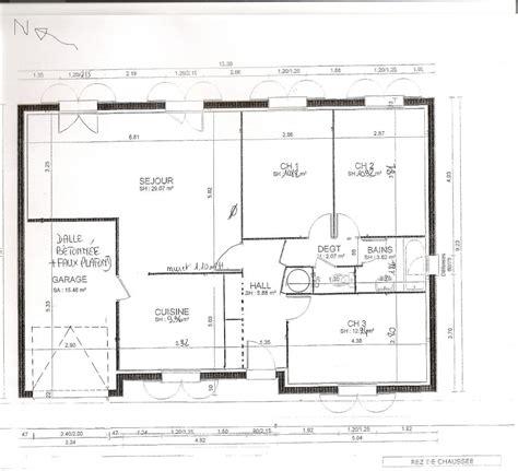 maison 3 chambres plan maison 70m2 3 chambres plain pied segu maison