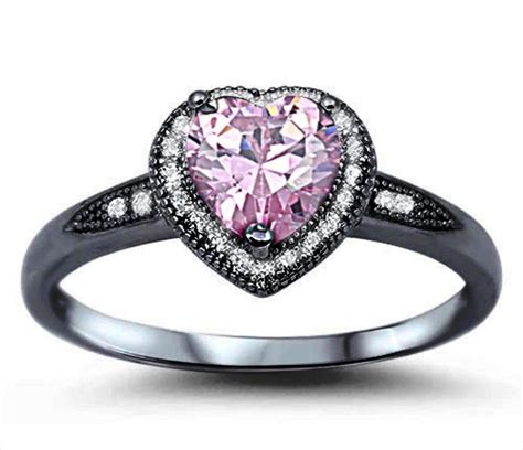 22+ Black And Pink Wedding Rings Designs, Trends  Design