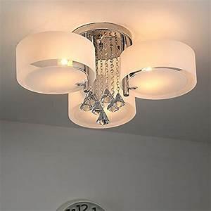 Deckenleuchte 3 Flammig E27 : natsen led kristall deckenleuchte deckenlampe designer wohnzimmer lampe 3 flammig led e27 60cm ~ Orissabook.com Haus und Dekorationen