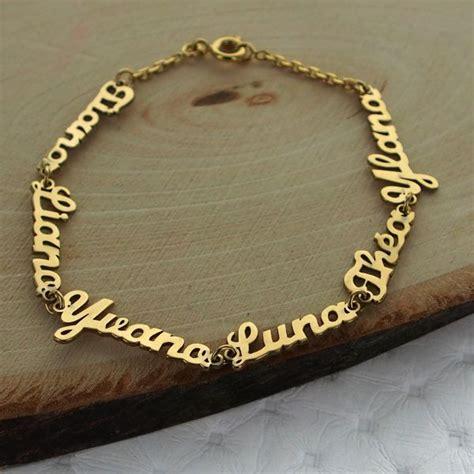 bracelet prenom decoupe sur chaine
