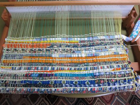 rag rug loom for thinking out loud weaving a rag rug on the rigid heddle loom