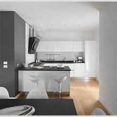 Hochglanz Küche Schwarze Arbeitsplatte Hochglanz Weiß