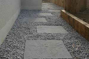 traverse gravier et palis de gres contemporain jardin With exceptional idee deco jardin gravier 17 dossier le mur en beton