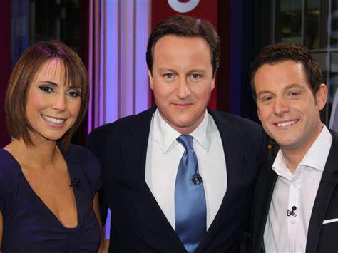 David Cameron With Bbc The One Show Presenters Matt Baker