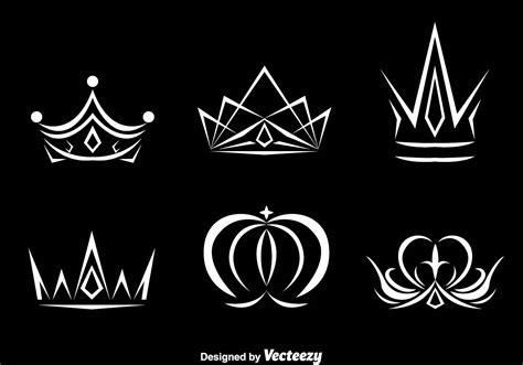 white crown logo vectors   vector art stock