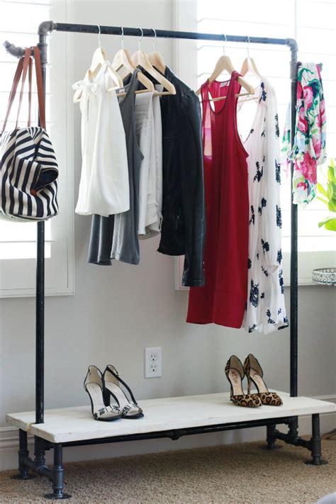 diy clothing rack diy garment rack a thoughtful place