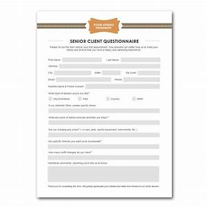 squijoocom senior client questionnaire template With new customer questionnaire template