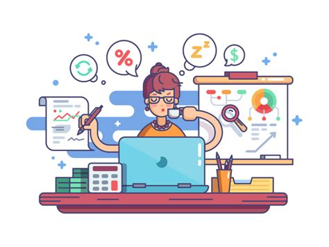 Financial Accountant Illustration
