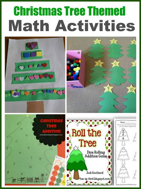 christmas tree math tree theme for preschool and early elementary