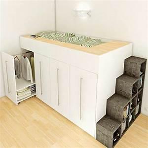 Kleine Zimmer Gestalten : comment bien choisir un meuble gain de place en 50 photos ~ Yasmunasinghe.com Haus und Dekorationen