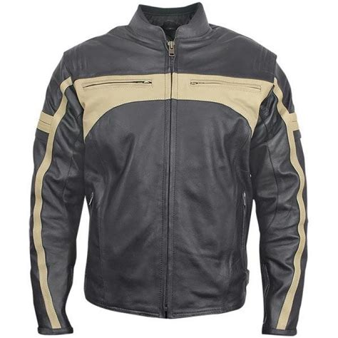 classic leather motorcycle jackets men 39 s classic armored leather motorcycle jacket