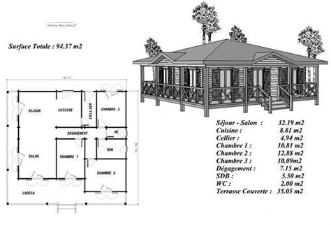plan maison bois mod 233 le pin sylvestre avec terrasse coursive