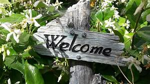 Free photo: Welcome Sign, Garden Sign - Free Image on