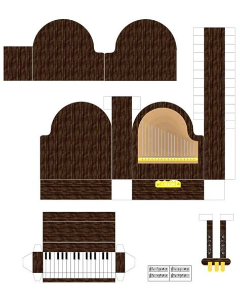 printable paper art doll house furniture