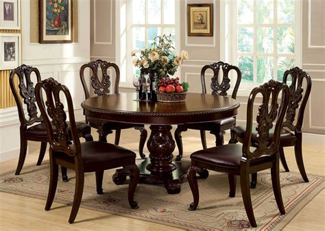 7 Piece Bellagio Round Dining Set With Wooden Side Chair