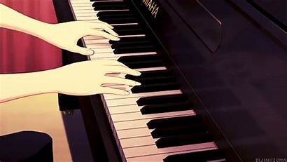 Piano Instruments Gifs Animated Musical Anime Playing