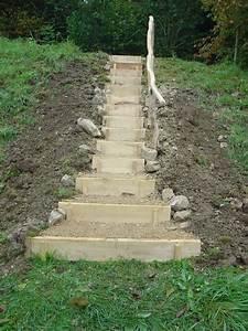 Treppen Im Garten : treppen im gel nde michael rhiner holz garten garden stairs garden steps sloped garden ~ A.2002-acura-tl-radio.info Haus und Dekorationen