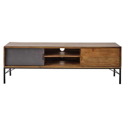 large tv stand meuble tv en manguier l 150 cm arty maisons du monde