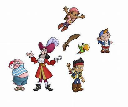 Jake Neverland Pirates Characters Disney Figures Separate