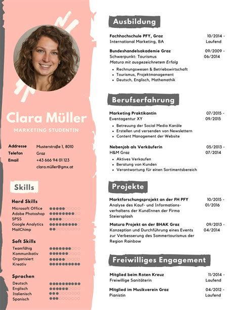 Lebenslauf Kreativ by Vorlage F 252 R Einen Kreativen Lebenslauf Studentjob At