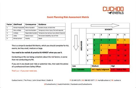 event risk management template 6 free event planning templates to kickstart your week