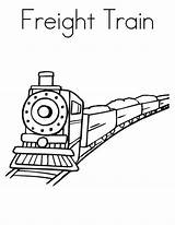 Coloring Train Freight Pages Template Colouring Templates Pdf Subject Perfect sketch template