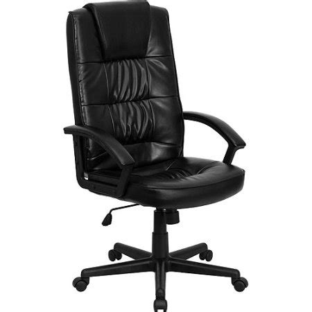 Office Chair Covers Walmart by Leather Executive High Back Office Chair Black Walmart