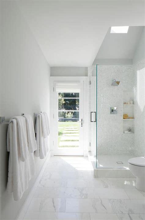 Walk In Shower Sloped Ceiling Skylight Design Ideas