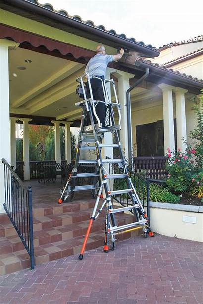 Cage Platform Ladder Safety Ladders Ft Stairs