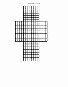 Printable template for minecraft skin creation use for Minecraft skin template grid