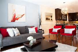 Modern Black House Bright Accents Modern Living Room Designs With Gray Sofa And Dark Table And Bright