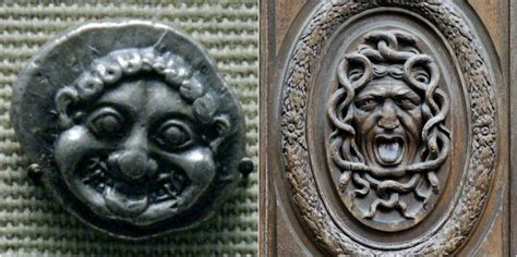 Gorgon myth imagery appears on coins and artwork from ...