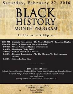 black history program 2016 With black history program template