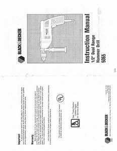 Black  U0026 Decker 5065 User Manual
